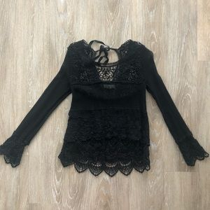 URBAN OUTFITTERS Lace Long-Sleeve Top